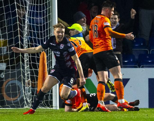 Ross County's Jamie Lindsay celebrates after scoring to make it 1-1