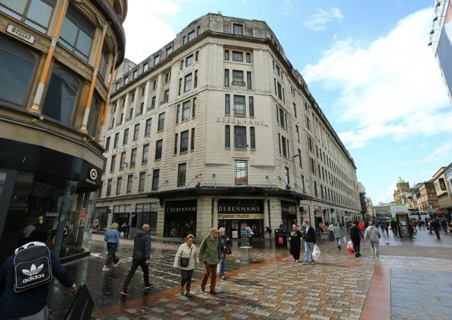 Debenhams on Glasgow's Argyle Street