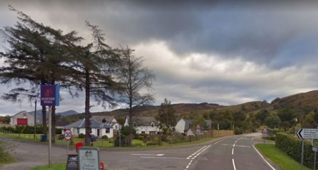 The crash happened on a A828. Pic: Google maps