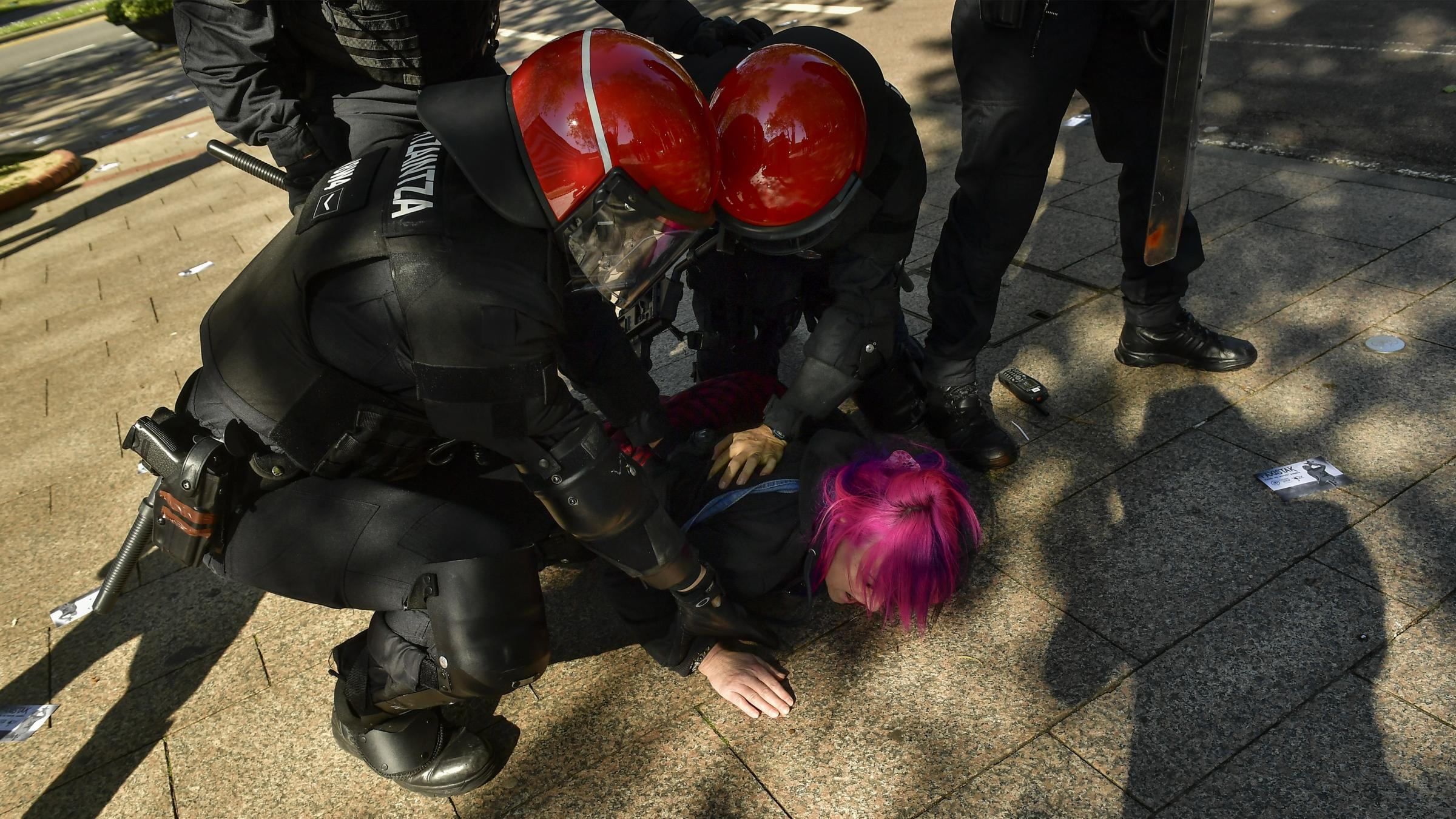 Police in Spain clash with protesters targeting far-right party