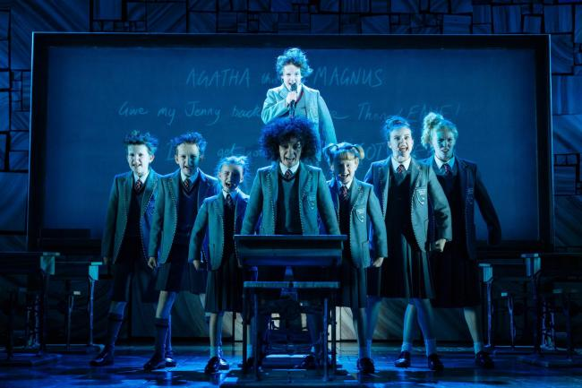 The young company of Matilda: The Musical. Photo: Manuel Harlan.