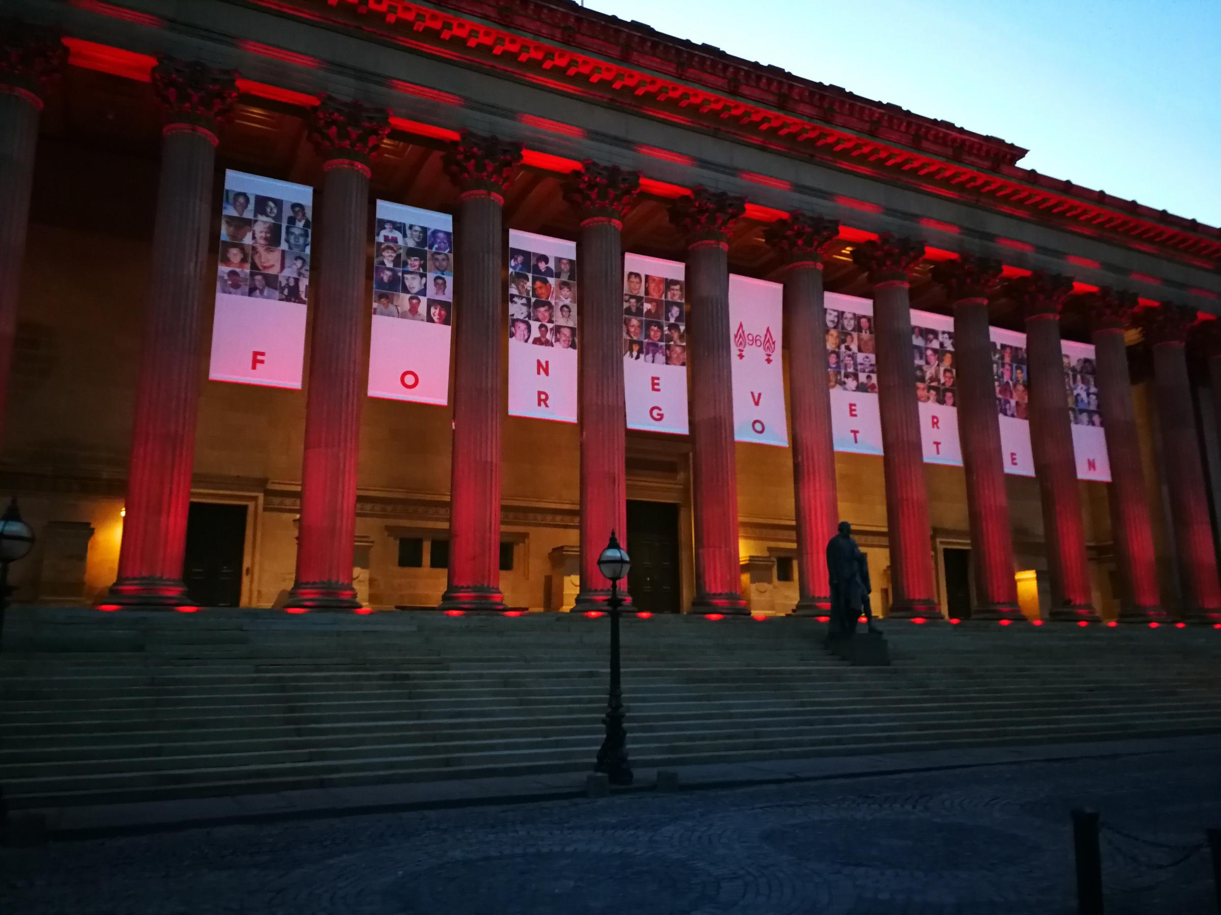 Tributes to the 96 victims of the Hillsborough disaster have gone in display in Liverpool. Credit Liverpool City Council