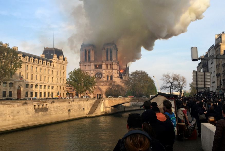 In Pictures: Notre Dame engulfed in flames