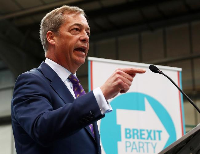 : Former Ukip leader Nigel Farage speaking at the launch of the single-issue  Brexit Party last week
