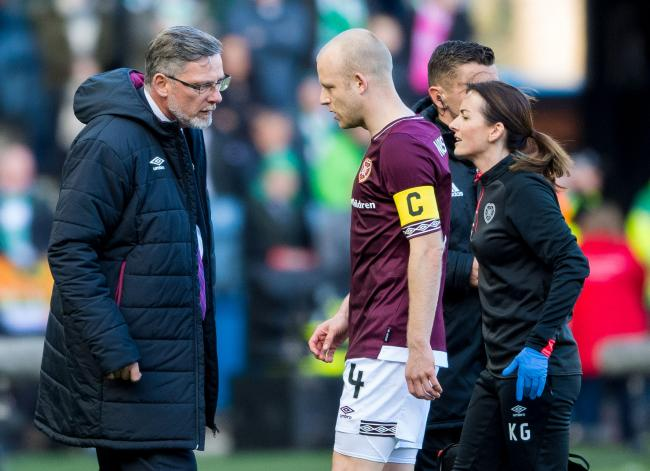 Craig Levein says Steven Naismith remains a hugely influential figure at Hearts, despite being injured