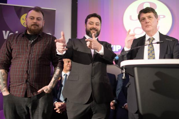 HeraldScotland: Mr Benjamin on stage with another YouTuber, Count Dankula (left), who recently came under fire posted a satiric video of a dog he'd taught to raise its paw in the manner of a Nazi salute.