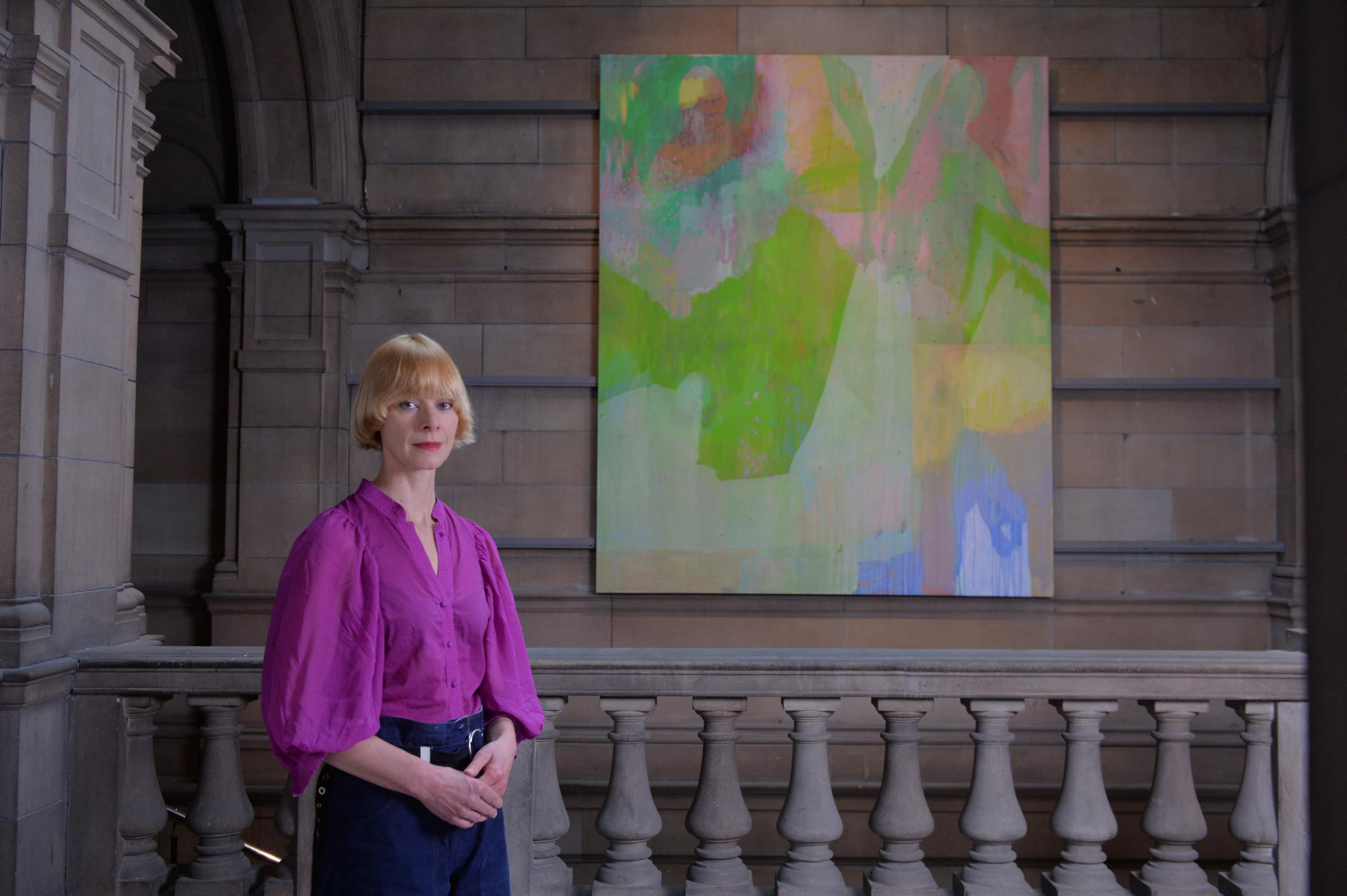 Victoria Morton's painting Soliton goes on show at Kelvingrove