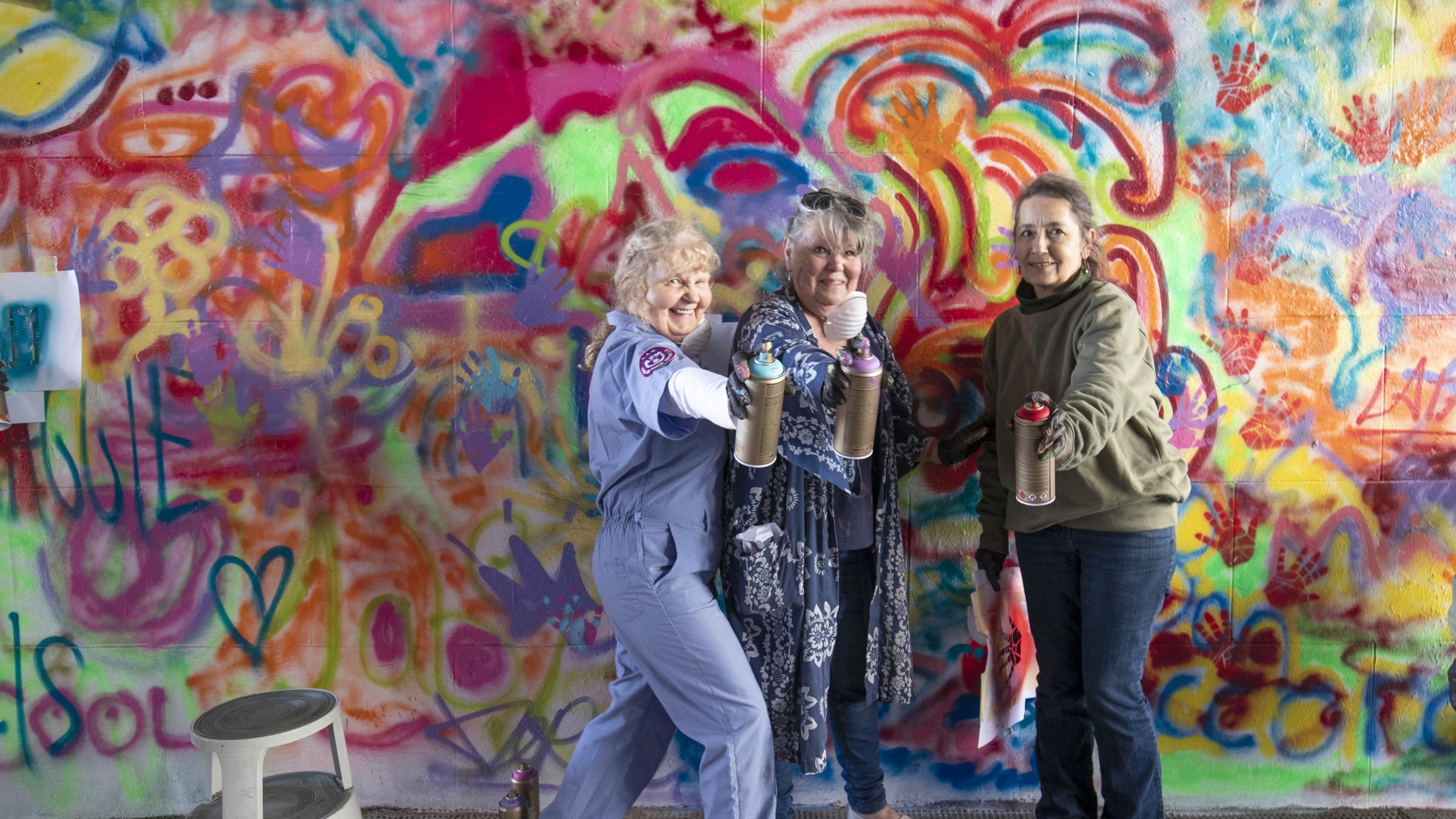 Scottish pensioners spray city centre wall with graffiti artwork by herald scotland online