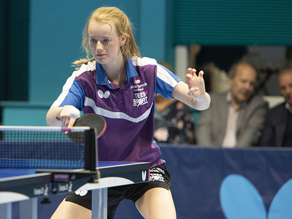 Student Rebecca Plaistow eager to learn from the best at World Table Tennis Championships