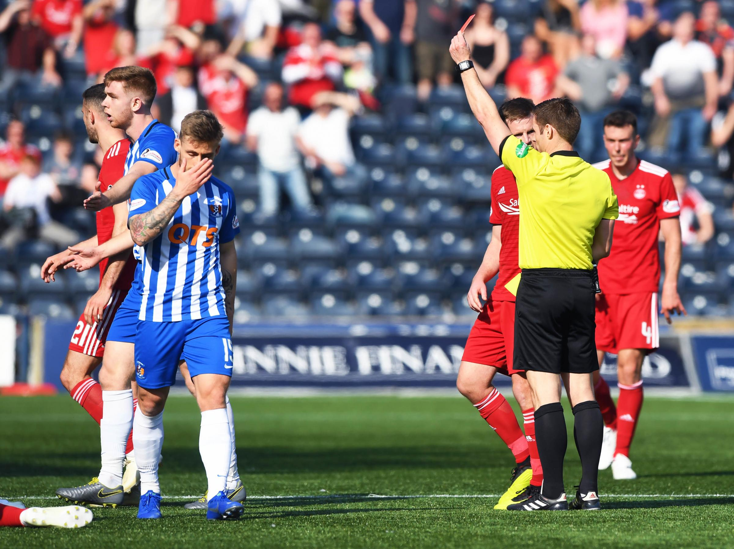 Steven MacLean wasn't a popular man at Rugby Park after sending off three Kilmarnock players.