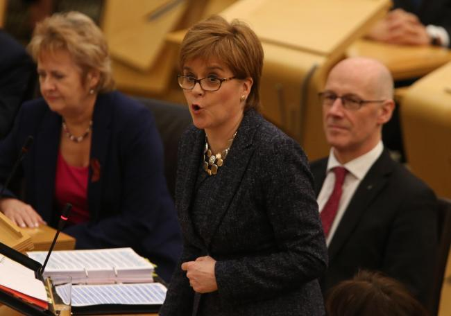 Nicola Sturgeon came under fire over narrowing school subject choices during First Minister's Questions.