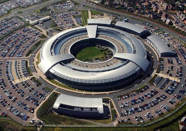 An aerial image of the Government Communications Headquarters (GCHQ) in Cheltenham, Gloucestershire, one of the three UK Intelligence Agencies. Picture by Ministry of Defence, GCHQ/Crown Copyright
