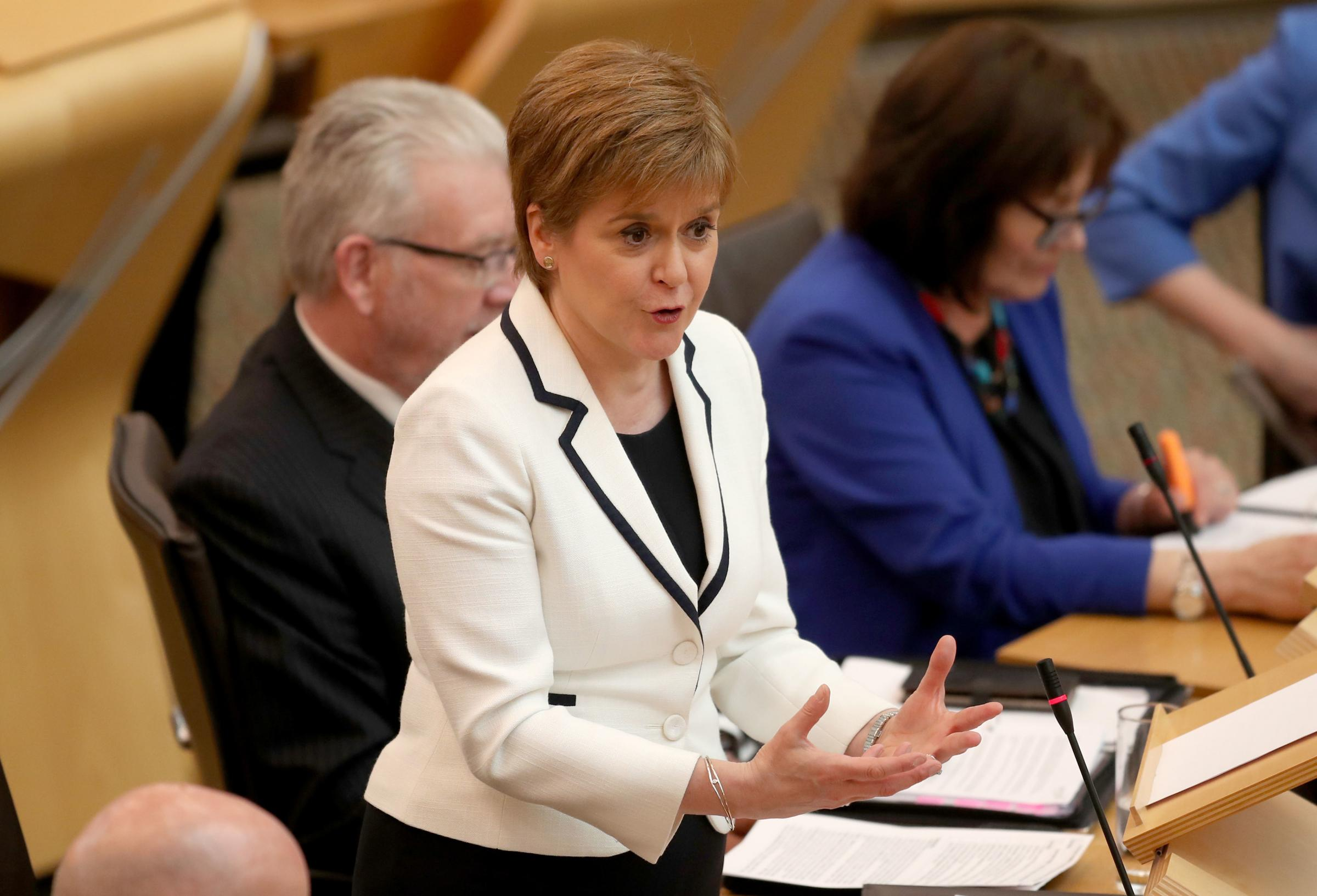 Nicola Sturgeon makes her statement at Holyrood.