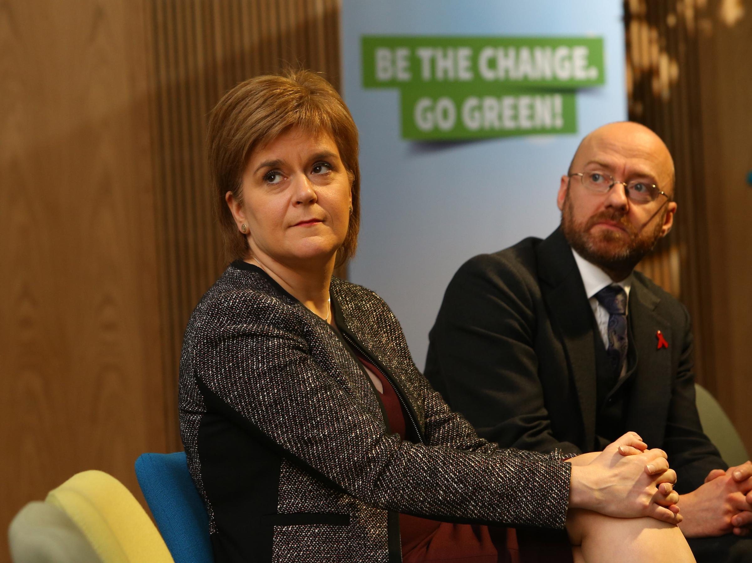 European Green Party Conference at the Technology and Innovation Centre at Strathclyde University, Glasgow. First Minister Nicola Sturgeon with Patrick Harvie, co-convenor of the Scottish Greens..   Photograph by Colin Mearns.2 December 2016.