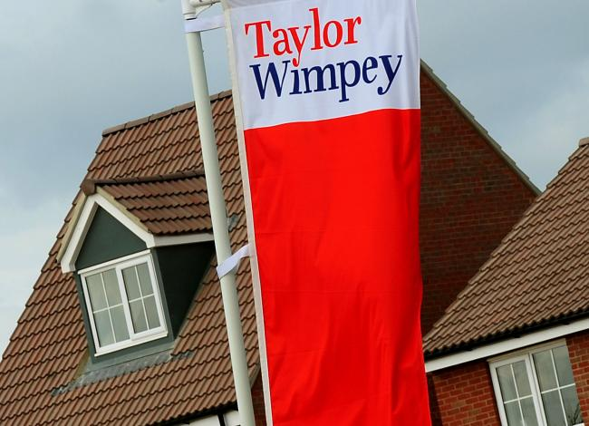 Shares in Taylor Wimpey closed lower