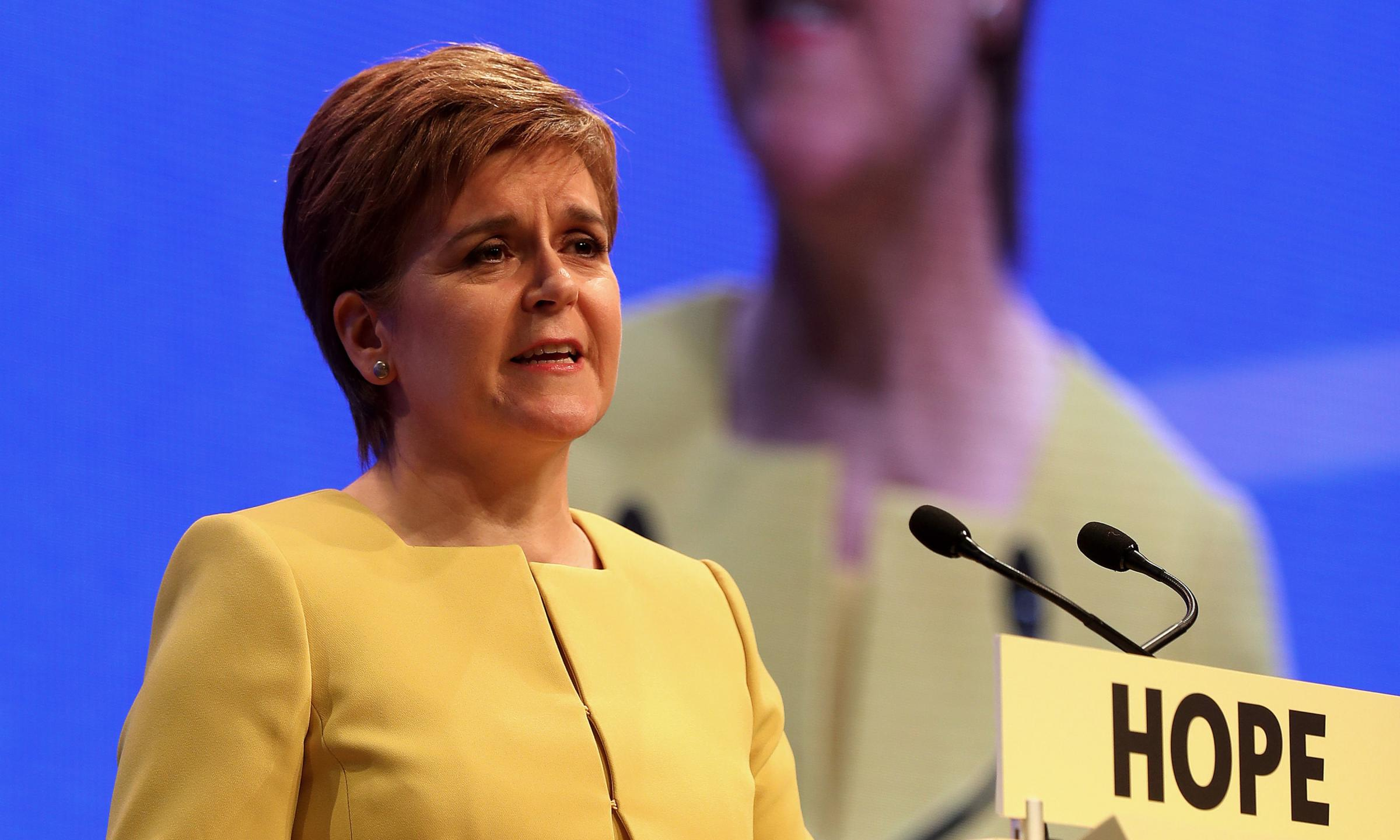 Nicola Sturgeon told the conference she had been influenced by talking to young campaigners
