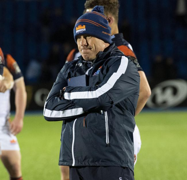 27/04/19 GUINNESS PRO 14.GLASGOW WARRIORS V EDINBURGH RUGBY.SCOTSTOUN - GLASGOW.Edinburgh head coach Richard Cokerill looks dejected at full time.
