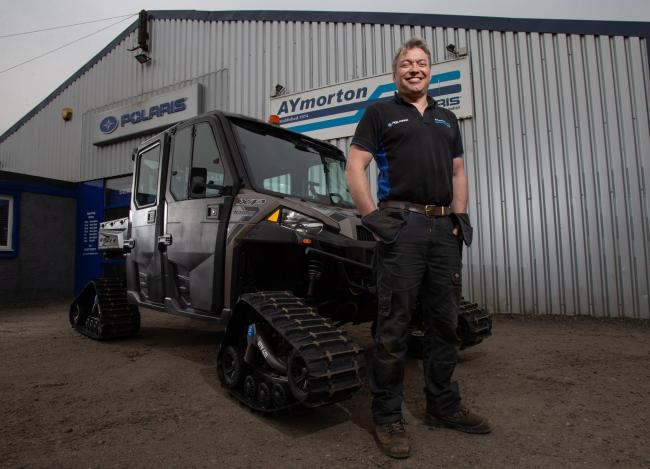 Alastair Morton, left, owner of AY Morton, a utility vehicle dealership and garage based in Strathaven.  Picture: Colin Mearns