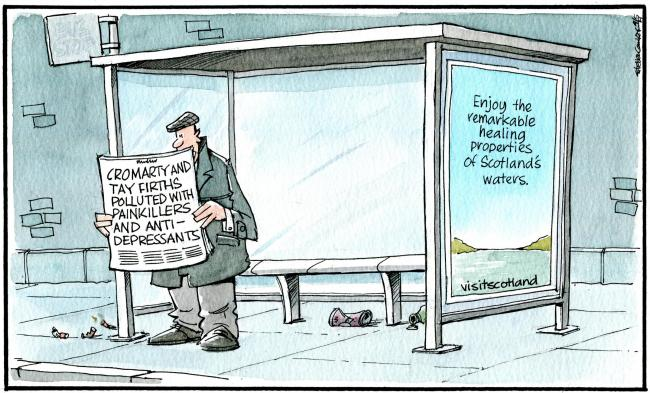 Camley's Cartoon for Saturday, May 4: Scotland's estuaries polluted