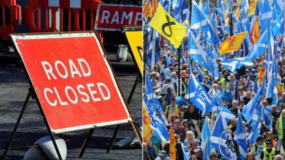 Full list of Glasgow road closures ahead of pro-Scottish independence march