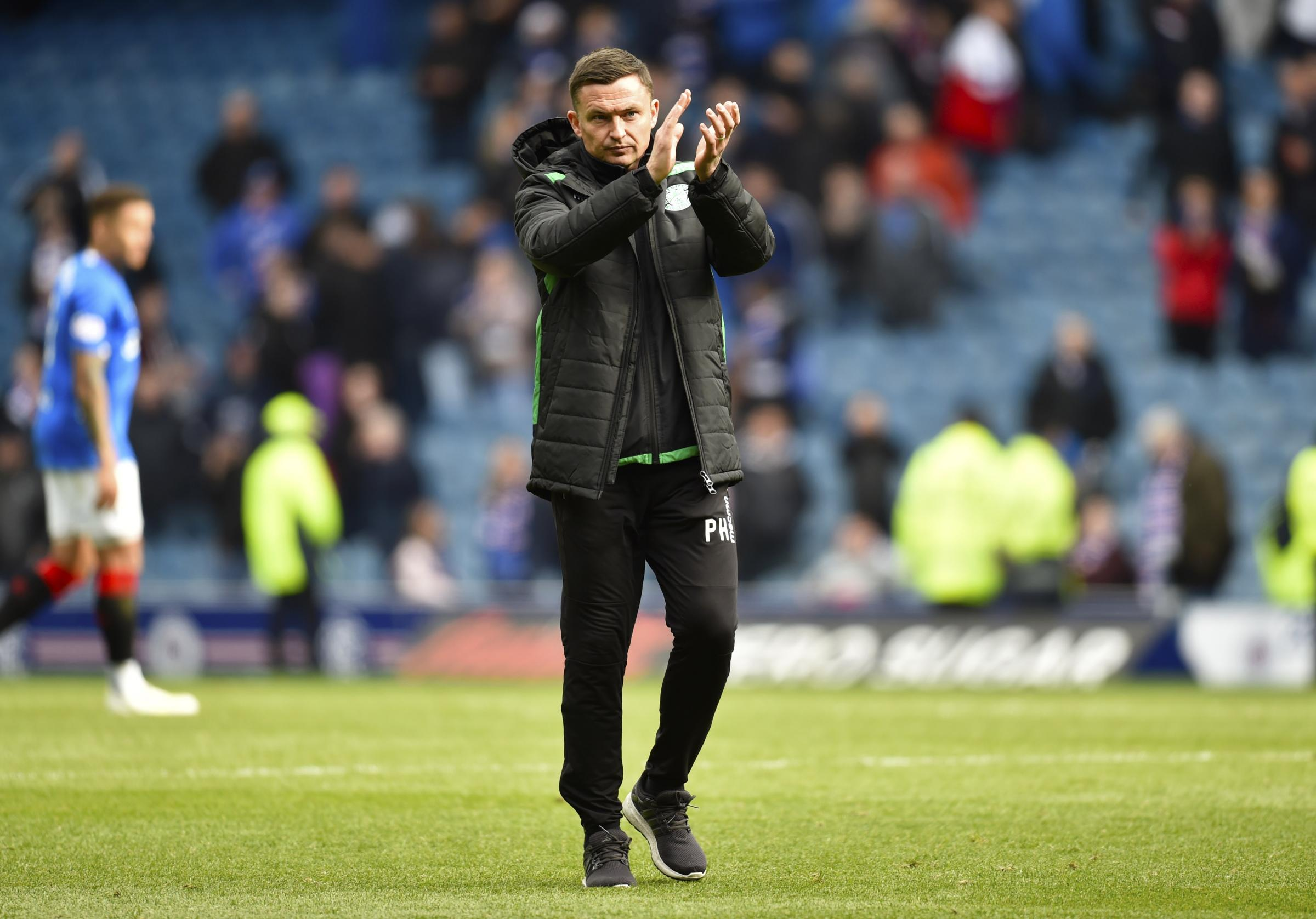 Hibernian manager Paul Heckingbottom keen to move on from Rangers drubbing