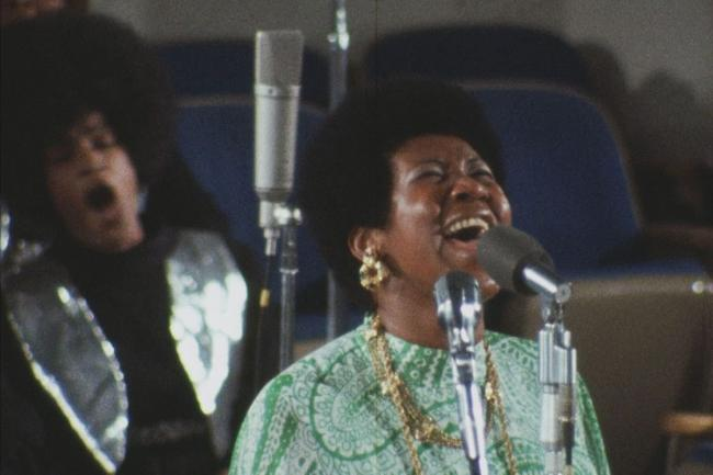 Aretha Franklin hits the high notes in the landmark 1972 performance. Picture: Studiocanal