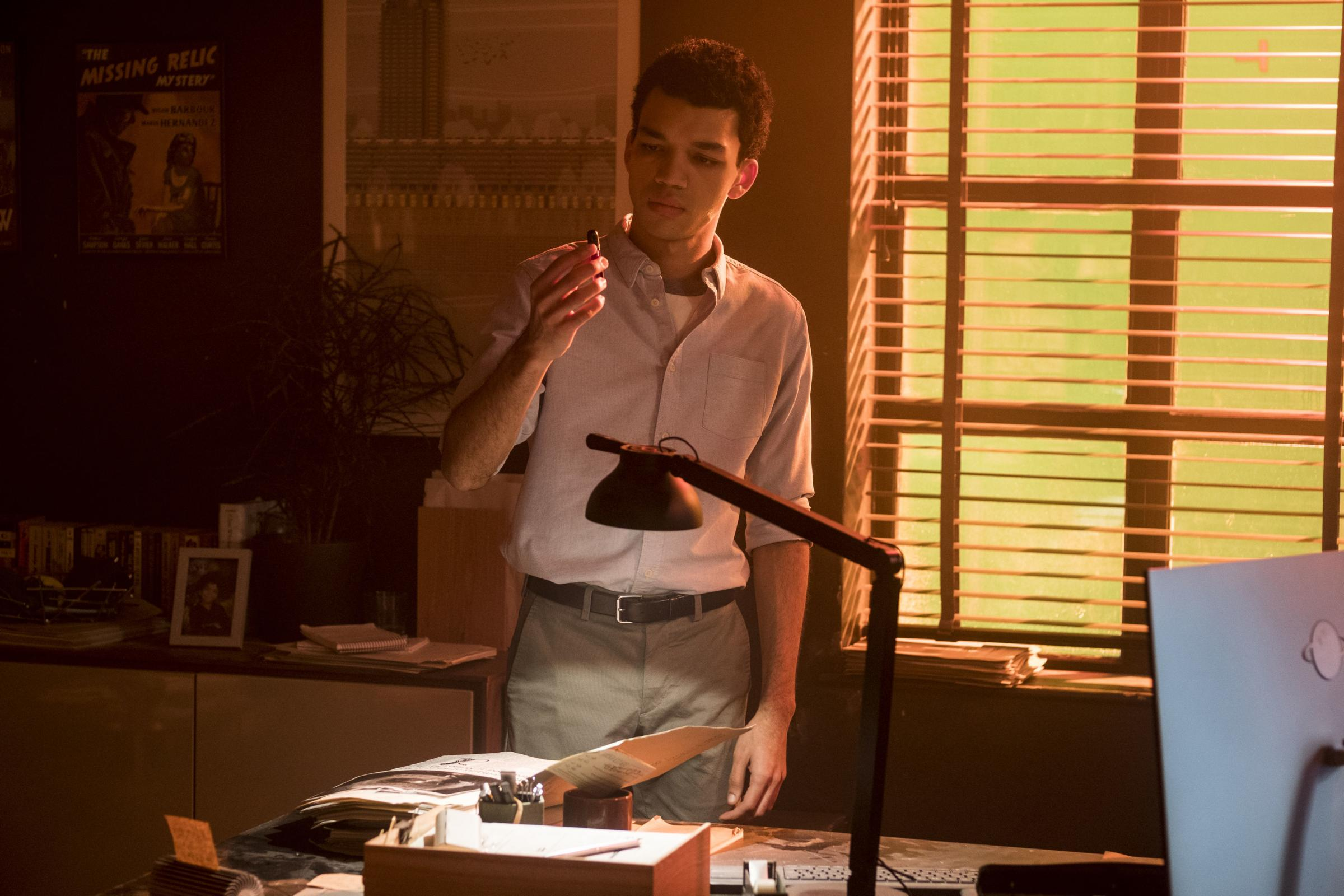 Justice Smith as Tim Goodman.  PA Photo/Legendary/Warner Bros. Entertainment Inc./Giles Keyte