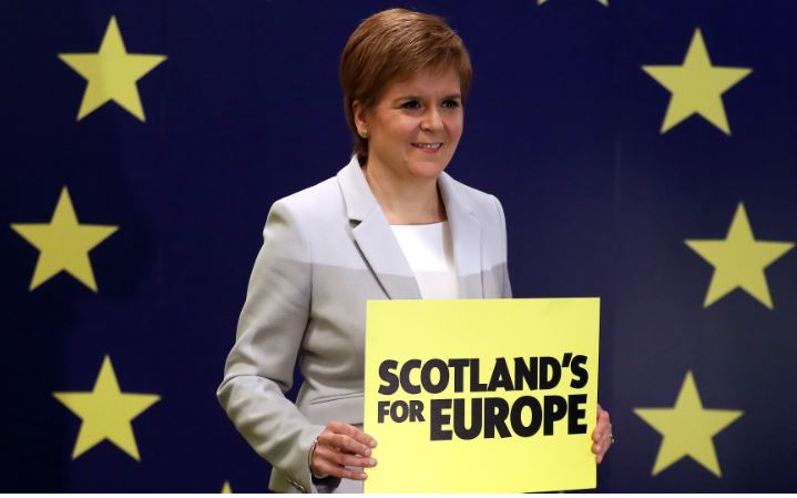 Nicola Sturgeon launches SNP European election manifesto