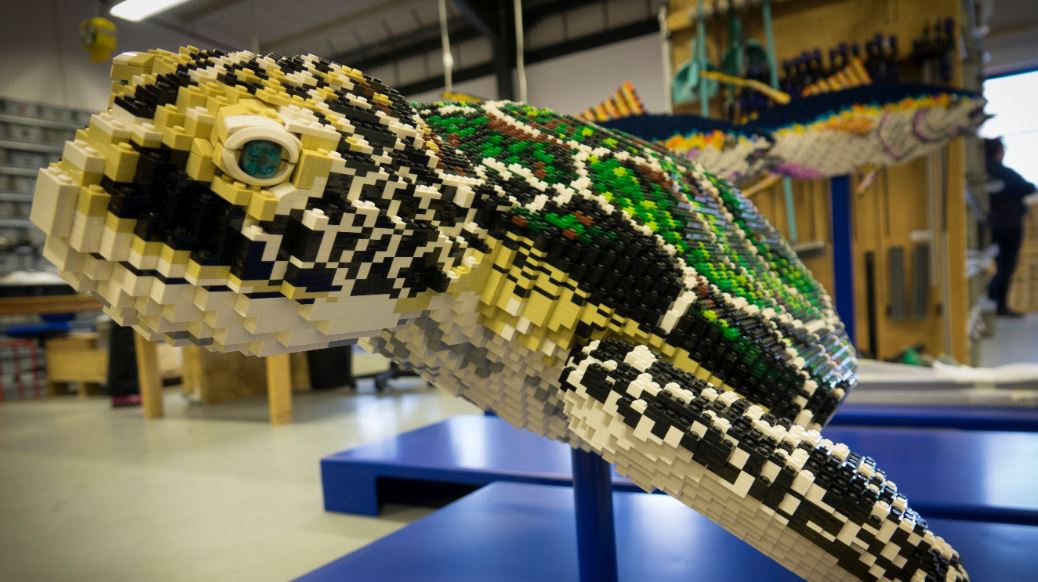 More than one million Lego bricks will be used to create the life-sized models of sea life. (RZSS/PA)