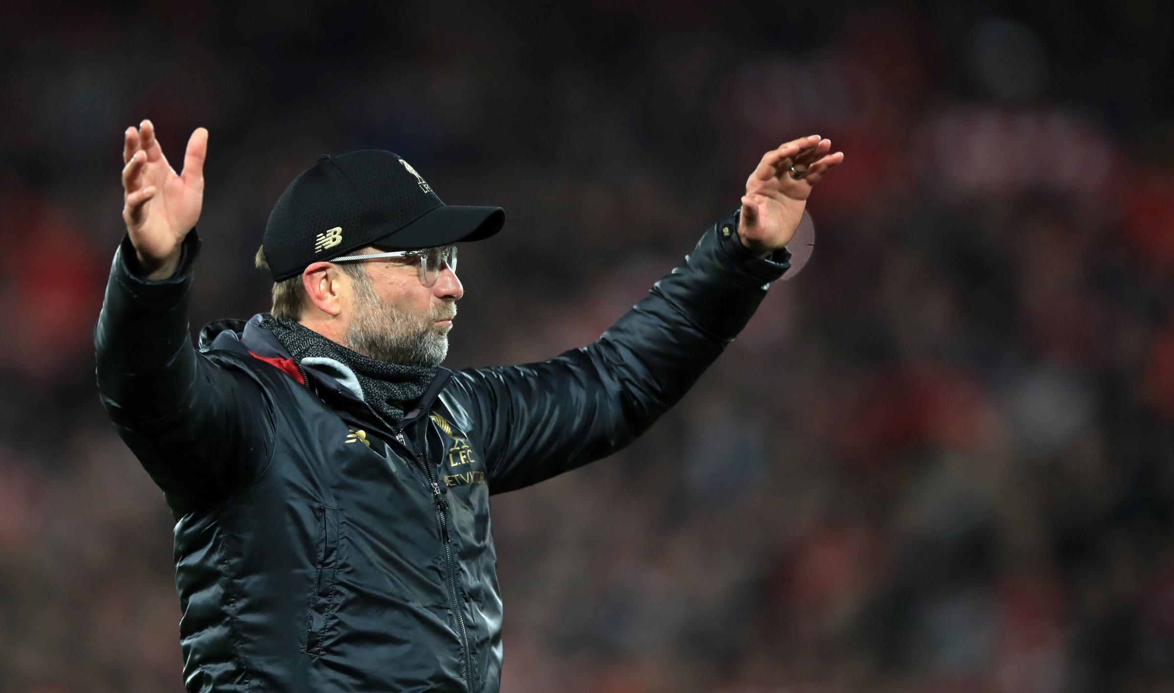 Liverpool manager Jurgen Klopp celebrates victory over Barcelona in the second leg of the Champions League semi-final at Anfield on Tuesday. Picture: Peter Byrne/ PA Wire.