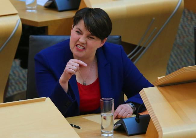 Ruth Davidson back for FMQs thursday at in the Scottish Parliament..Pic Gordon Terris/The Herald.9/5/19.