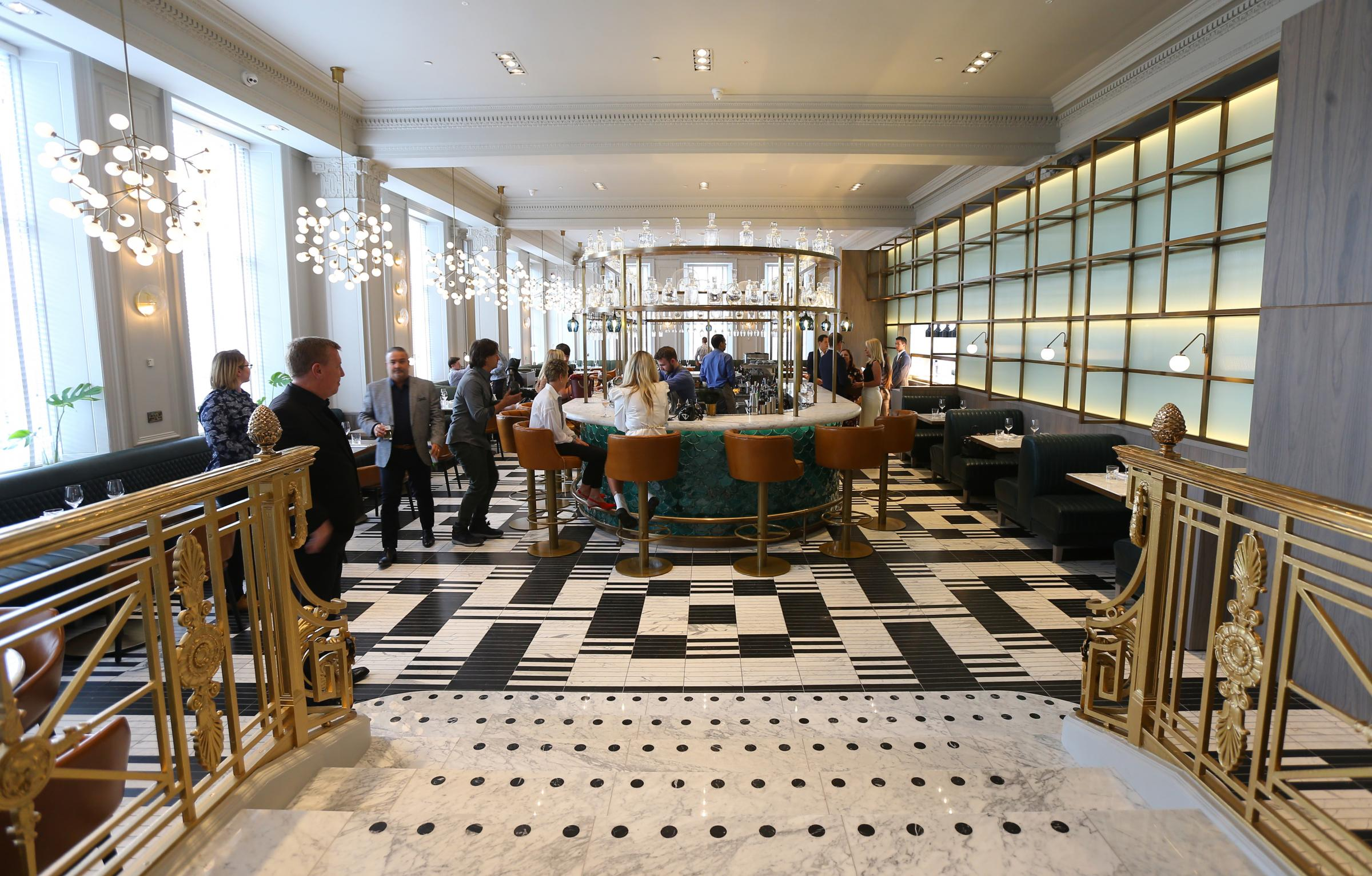 Inside the new Blythswood Hotel restaurant