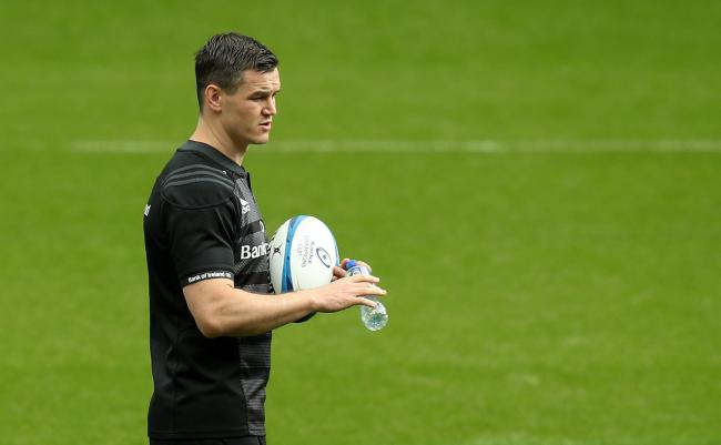 NEWCASTLE UPON TYNE, ENGLAND - MAY 10:   Jonathan Sexton looks on during the Leinster captain's run at St. James Park on May 10, 2019 in Newcastle upon Tyne, England. (Photo by David Rogers/Getty Images).