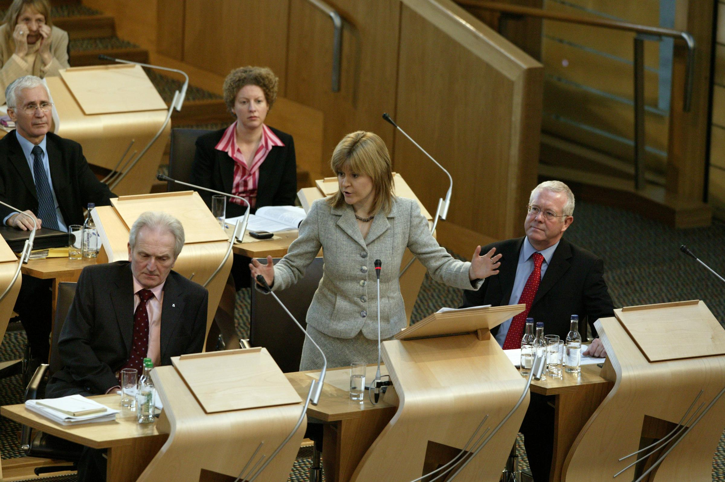 NICOLA STURGEON MSP SPEAKING DURING A PLENARY SESSION IN THE DEBATING CHAMBER.PIC-ANDREW COWAN/SCOTTISH PARLIAMENTPHOTOGRAPH (C) 2006 SCOTTISH PARLIAMENTARY CORPORATE BODY. THIS IMAGE MUST NOT BE REPRODUCED WITHOUT PRIOR WRITTEN PERMISSION. PLEASE CONT