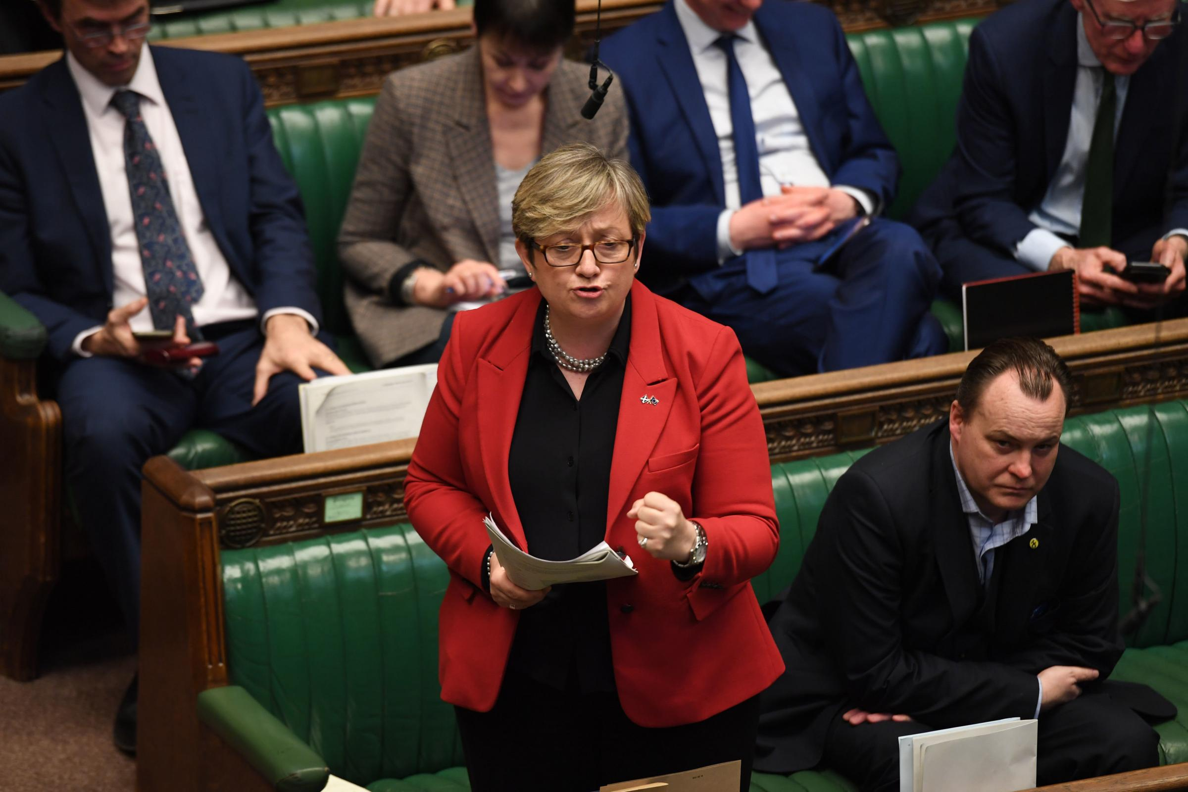 Joanna Cherry during the indicative votes debate in the House of Commons, London. PRESS ASSOCIATION