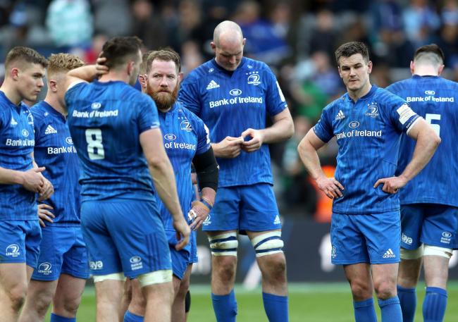 Leinster dejection after the game during the Champions Cup Final at St James' Park, Newcastle. PRESS ASSOCIATION Photo. Picture date: Saturday May 11, 2019. See PA story RUGBYU European. Photo credit should read: David Davies/PA Wire. RESTRICTIONS: E