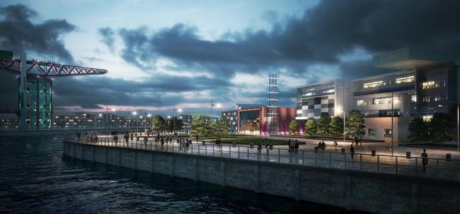 The £250m Queens Quay regeneration project underway at Clydebank features an innovative energy centre which will harness the sustainable energy of the River Clyde for an environmentally-friendly, cost-effective district heating network..
