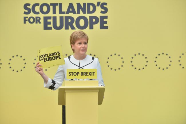 Ms Sturgeon launched the manifesto with a straightforward message Pics: Kirsty Anderson