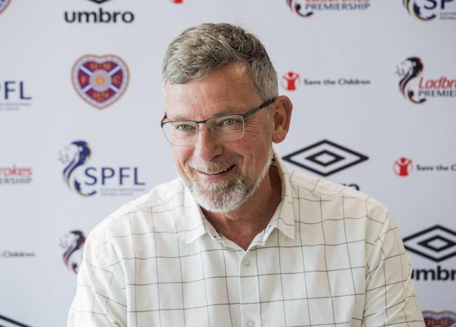 Hearts manager Craig Levein speaks to the media