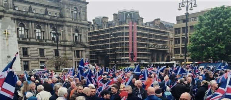 Over one thousand march through Glasgow in pro-Union demonstration