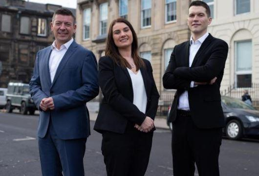 HeraldScotland: Left to right, Managing Director Damien Paterson alongside financial planners, Natalie Donnell & Richard Farquhar