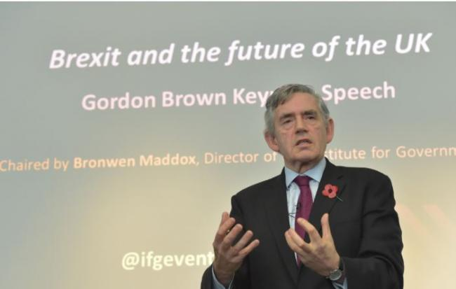 Gordon Brown clashes with Nigel Farage over call for probe into Brexit Party's 'dirty money'