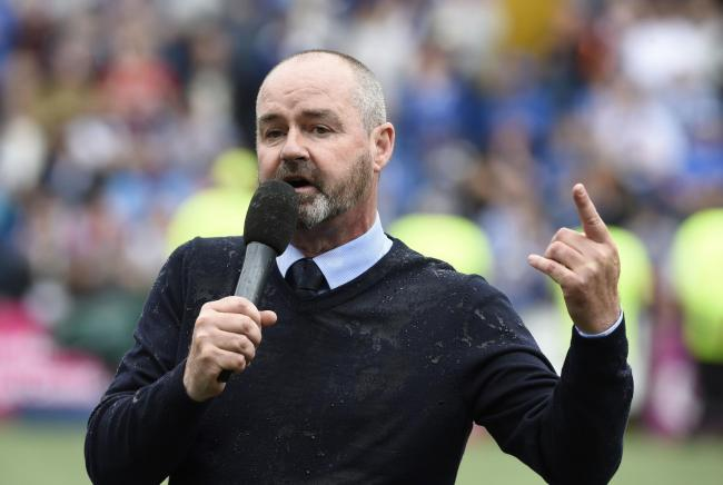 Steve Clarke made an emotional speech after what was his last game as Kilmarnock manager