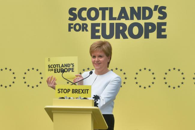 Image result for britain and EU cartoon nicola sturgeon