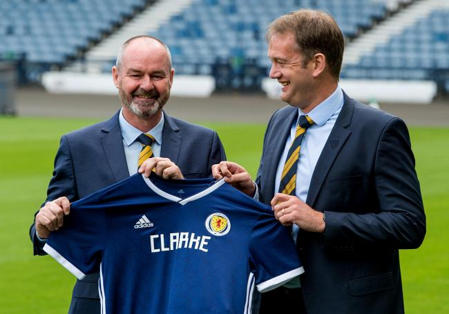 Ian Maxwell was delighted to unveil Steve Clarke as Scotland manager