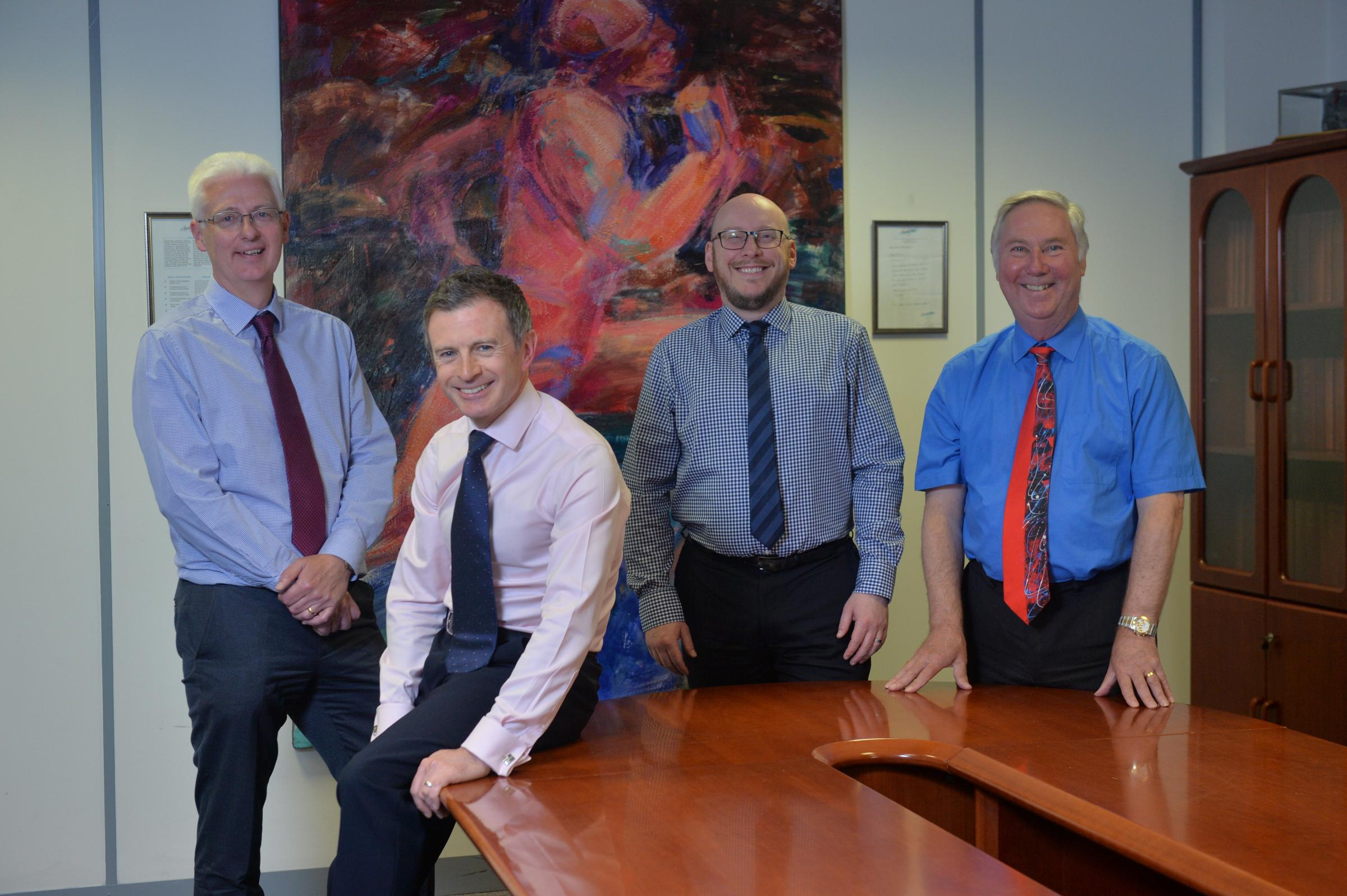 Glasgow law firm Dallas McMillan is run by partners (from left) Gordon Bell, Terence Doherty, David McElroy and senior partner Forbes Leslie.
