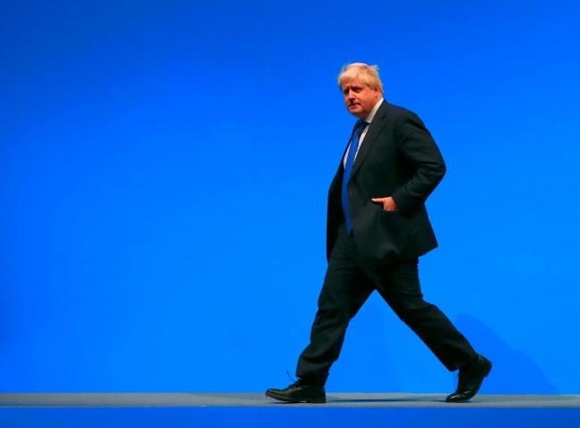 Taking centre stage: PM Johnson would