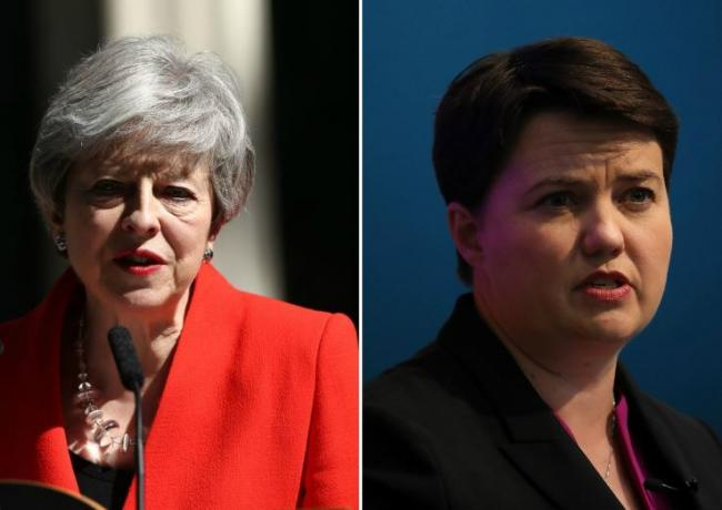 Ruth Davidson pays tribute to Theresa May and her