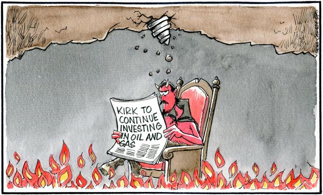 Saturday, May 25: Kirk investment protests (Steven Camley)