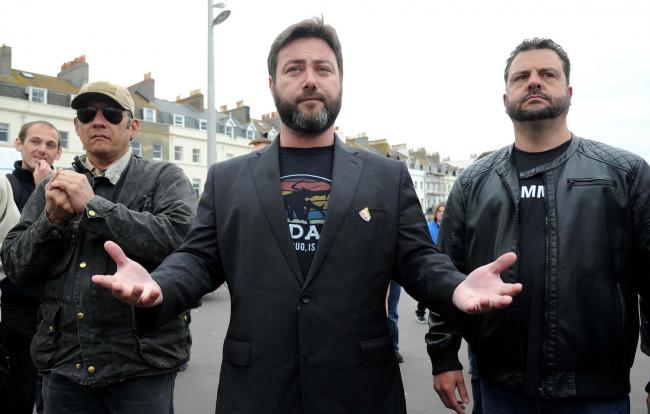 Carl Benjamin on the campaign trail May 2019.